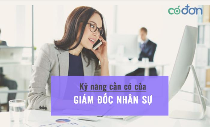 Ky nang can co cua Giam doc nhan su