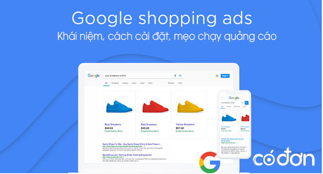 Google Shopping ads, cach chay quang cao Google Shopping