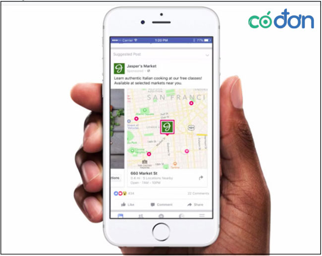 cach target quang cao Facebook theo khu vuc
